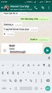 type in bold, italic and in strikthrough