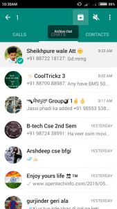 hide a chat without deleting