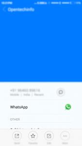 whatsapp chat option