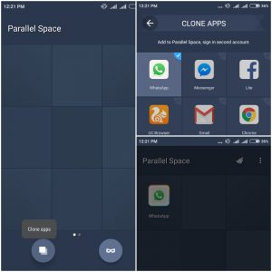use dual wharsapp with parallel space