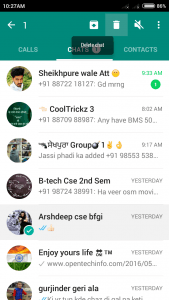 delete chat with one click