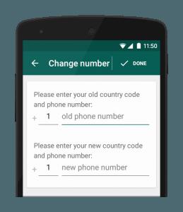change number on whatsapp