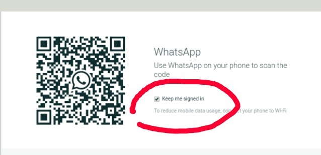 whatsapp web hacking: keep me signed in