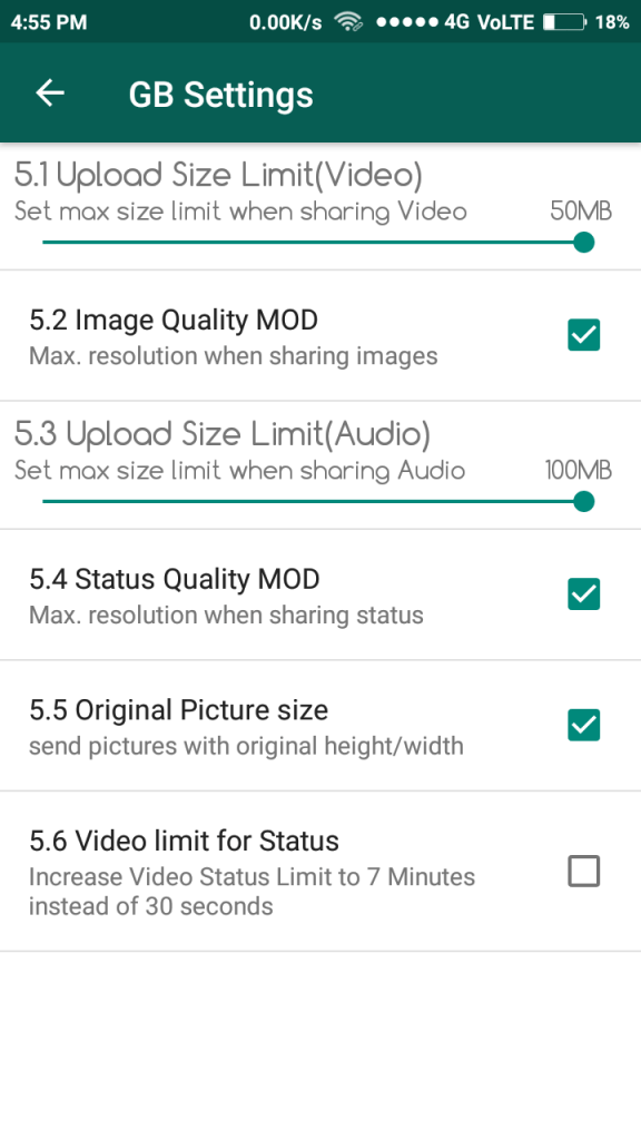 limit increasing of video and photo