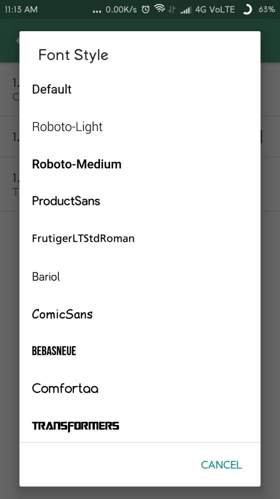 change font family