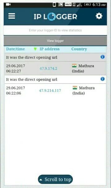 location by IP address: track an smartphone