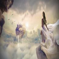 Girl in cloud dp