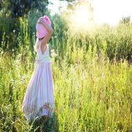 Girl in sunshine Girl hair dp for whatsapp