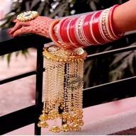 Girl arm with bangles