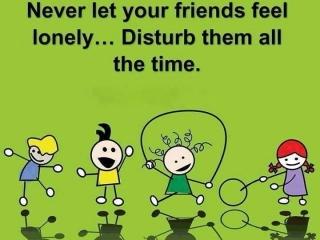 Friends disturb dp
