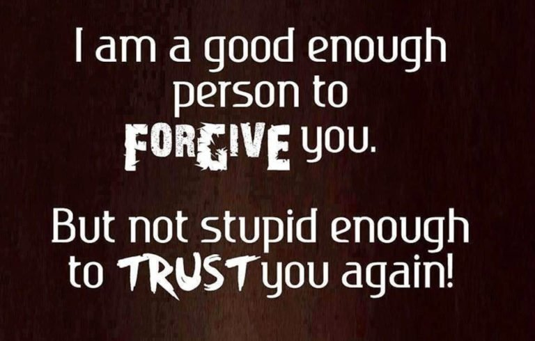 I am a good enough person to forgive you. but not stupid enough to trust you again! : whatsapp photo status