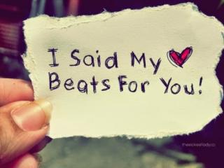 whatsapp status dp: I said my heart beats for you