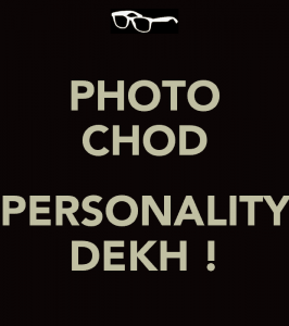 Written text about Photo chop Personality dekh! for whatsapp dp