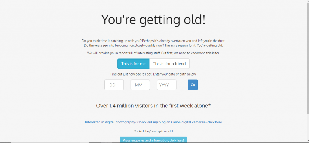 you are getting old