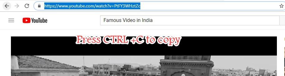youtube copy video URL