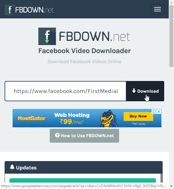 click download button