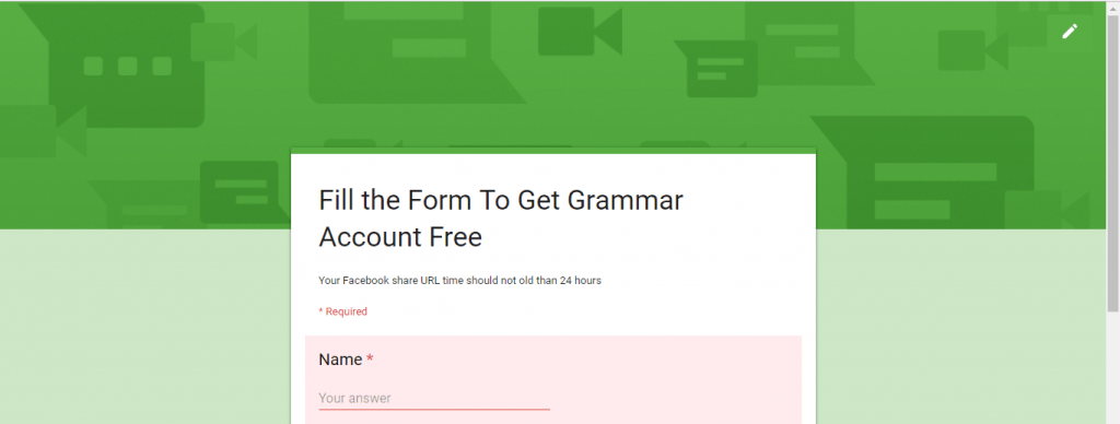 form for grammarly