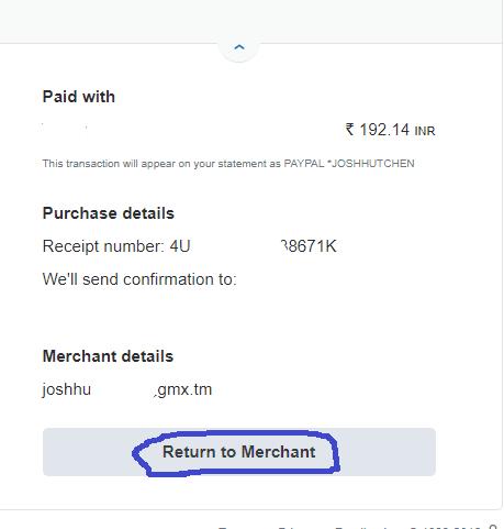 return to merchant
