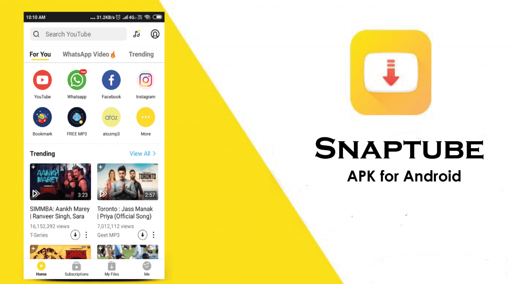 snaptube app for android download free: Best android downloader