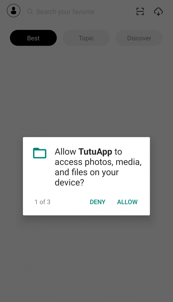 tutu app permission